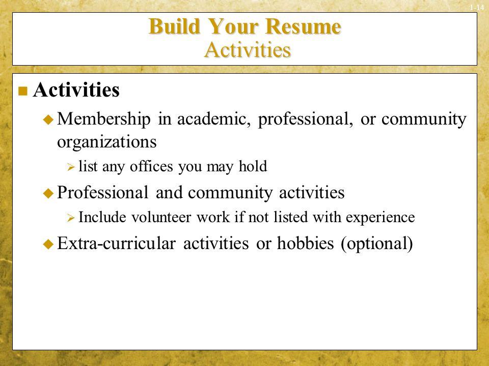 listing volunteer work on resumes