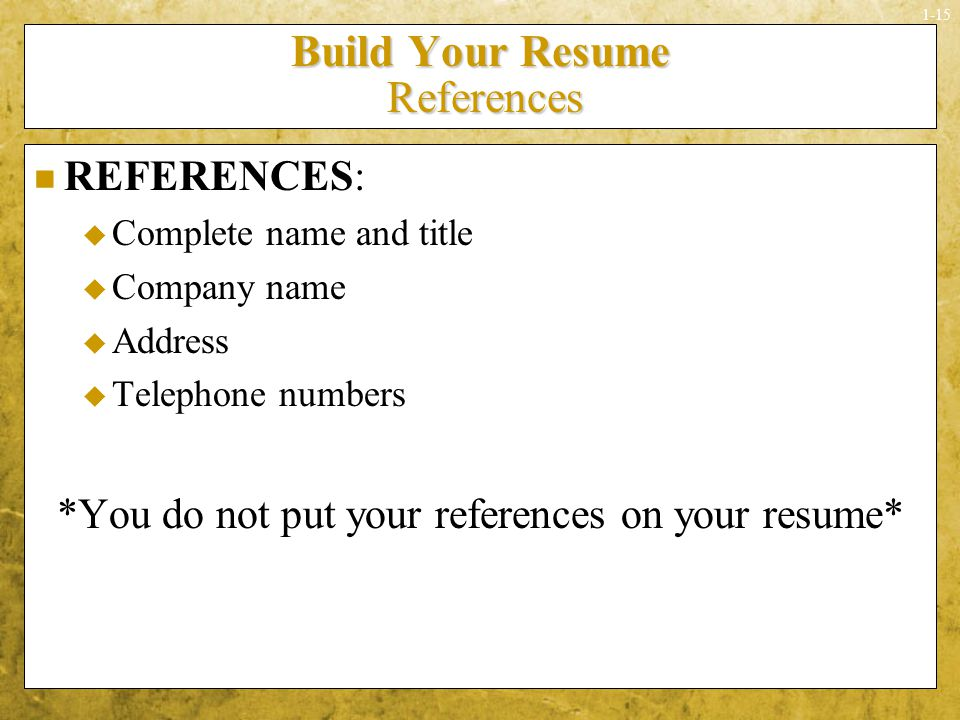 28 should you include references on your resume