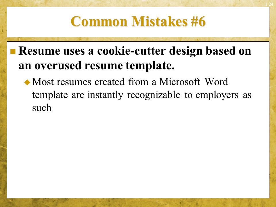 Resume Design Mistakes Seven Executive Resumes  Mistakes