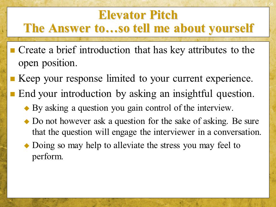 Sounds simple doesnt it ppt download elevator pitch the answer toso tell me about yourself ccuart Gallery