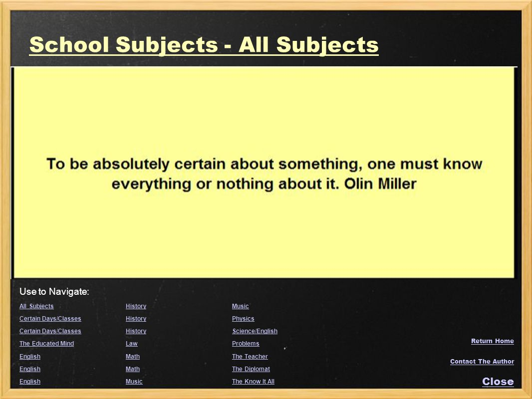 School Subjects - All Subjects