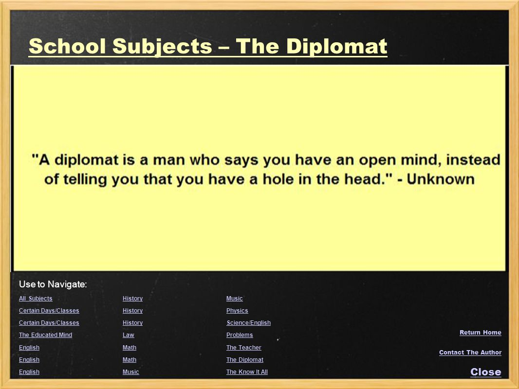 School Subjects – The Diplomat