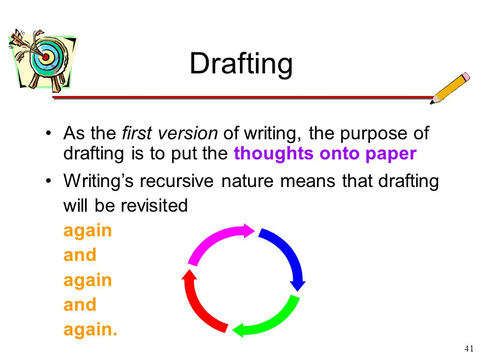 what makes writing a recursive process