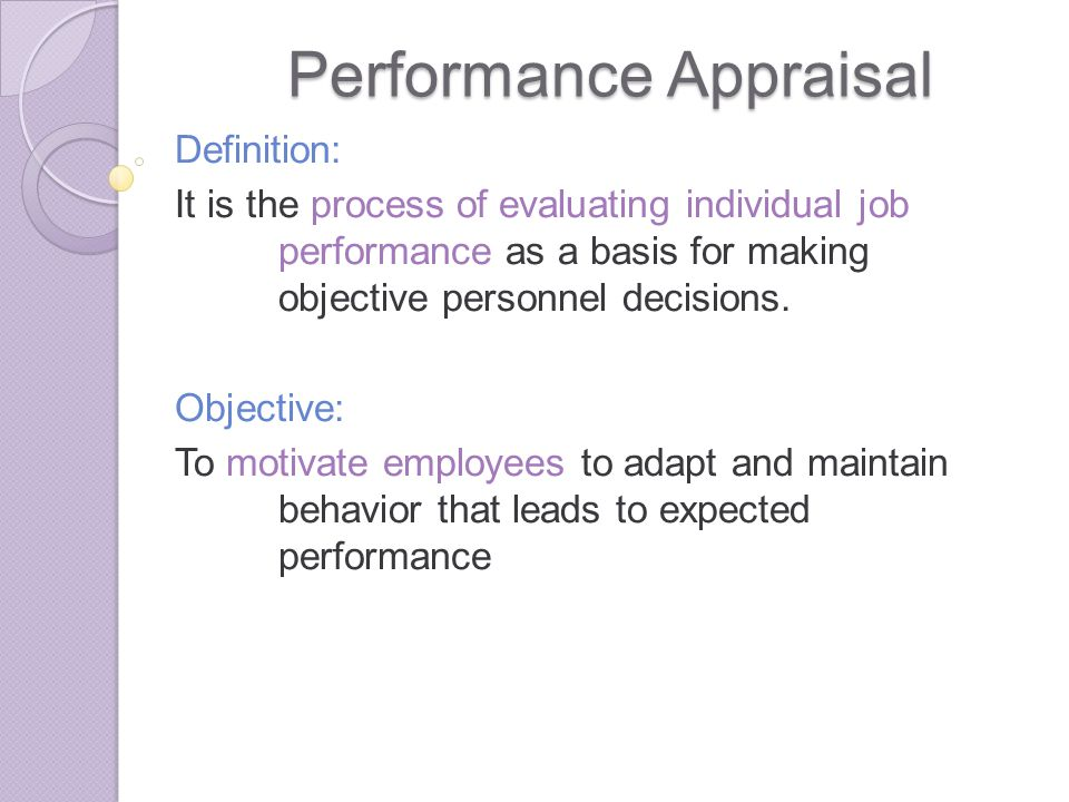 Performance Appraisal  Ppt Download