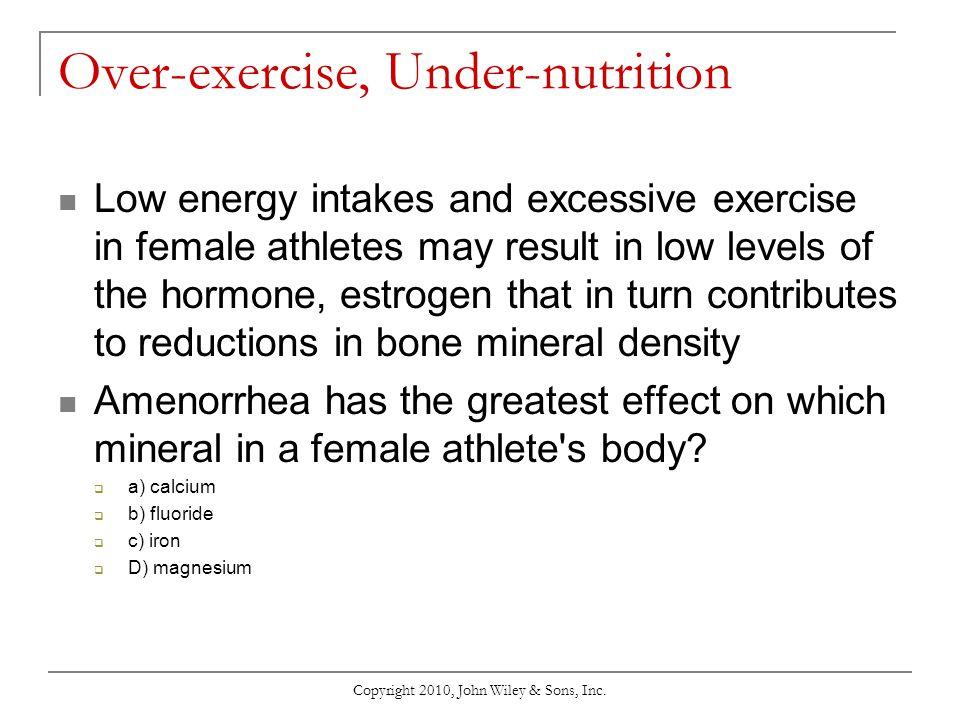 Chapter 13 Nutrition and Physical Activity