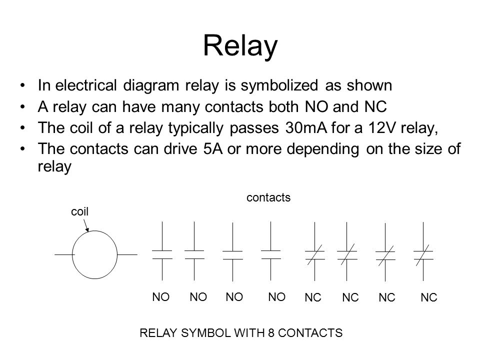 Fan Relay Coil Electrical Symbols