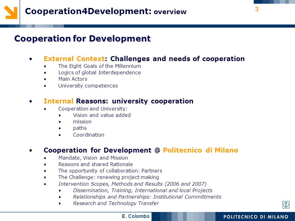 Cooperation4Development: overview