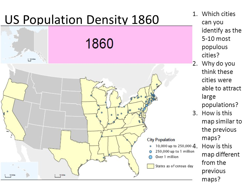 Map of us in 1860