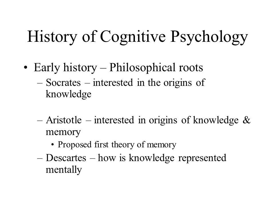 history of cognitive psychology essay