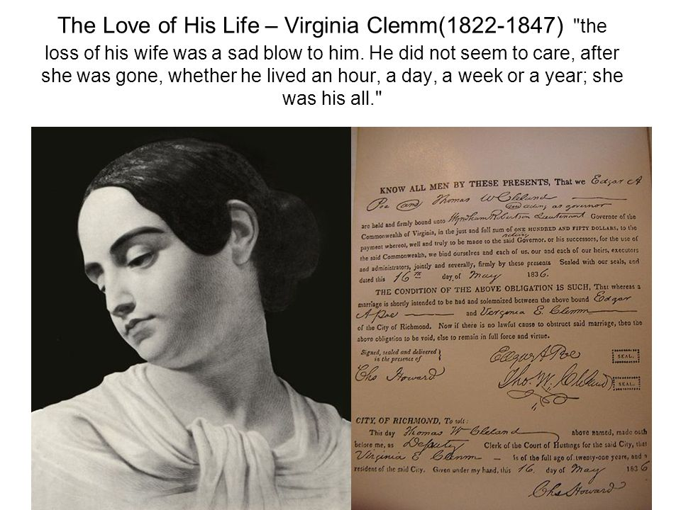 edgar allan poe relationship with his wife