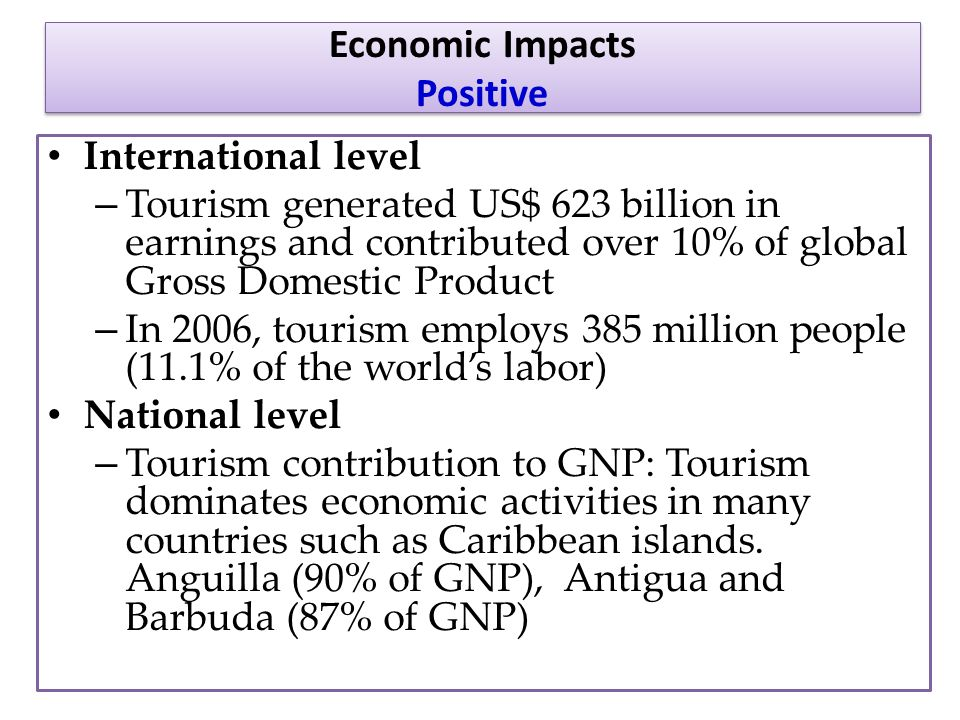 Positive Effects of Tourism in Developing Countries Essay Sample