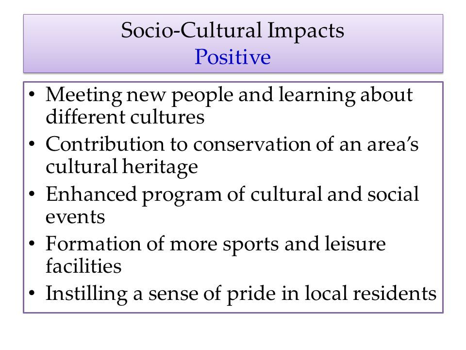 Positive and Negative Impacts of Sports Tourism Events on the Host Community