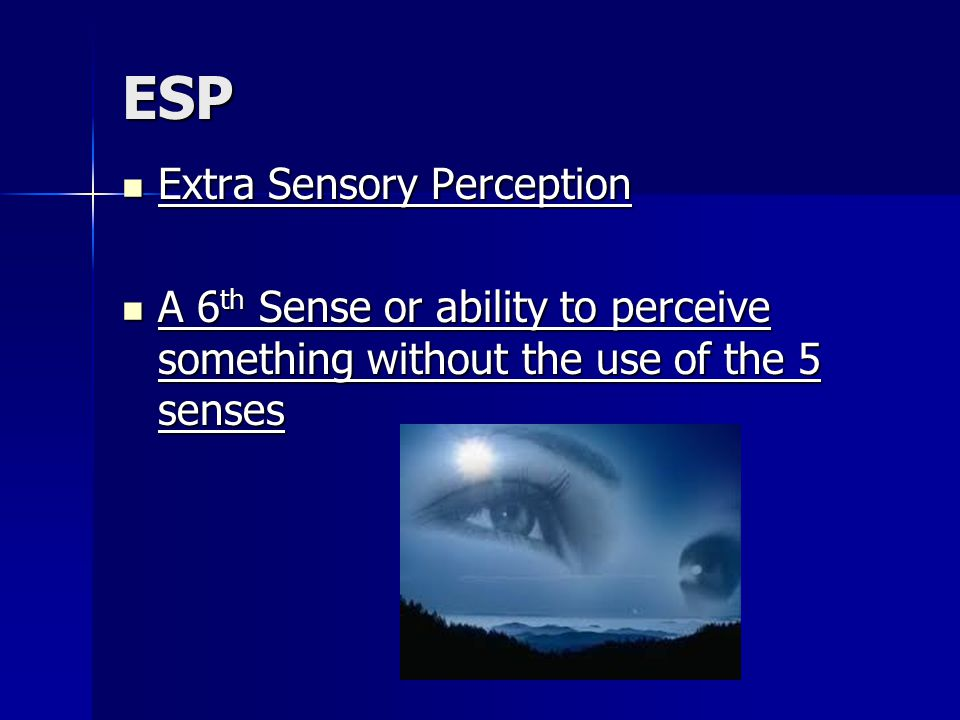 Term paper in extra sensory perception