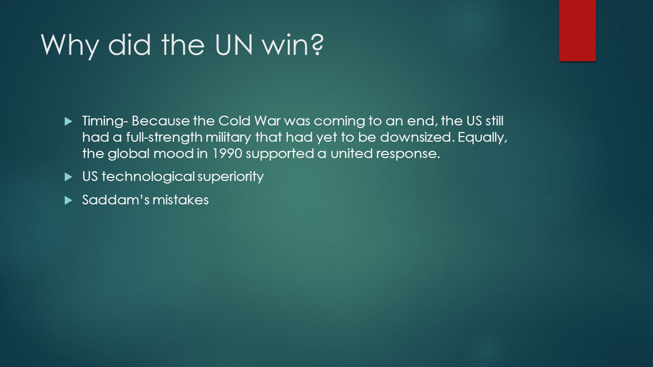 Why Did the Cold War End?