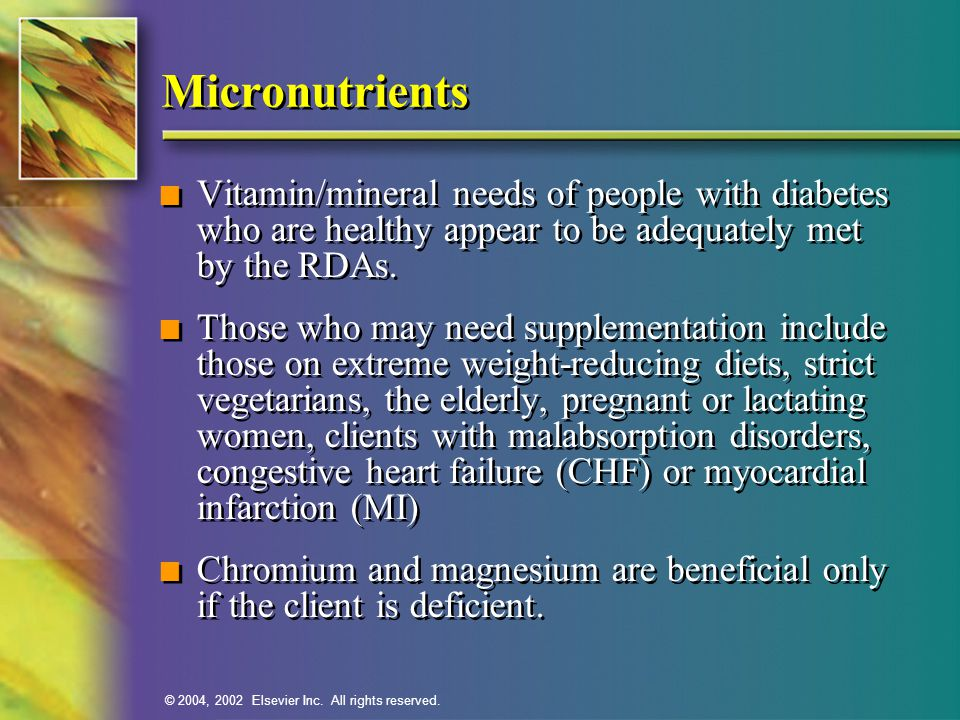 Mineral deficiency diabetes