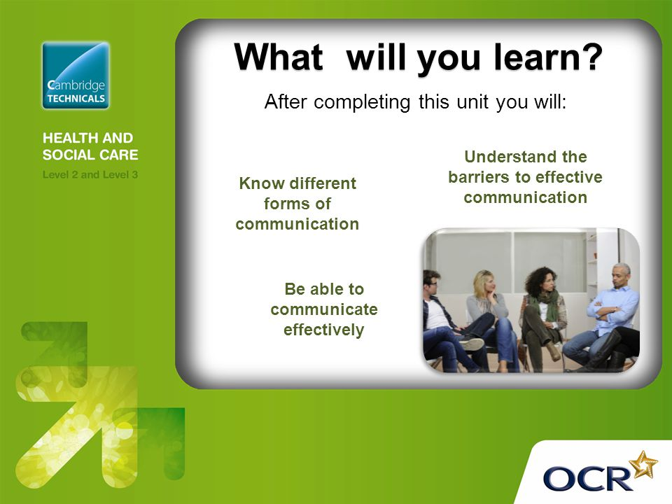 Unit 1 Communication in Health and Social Care Assignment
