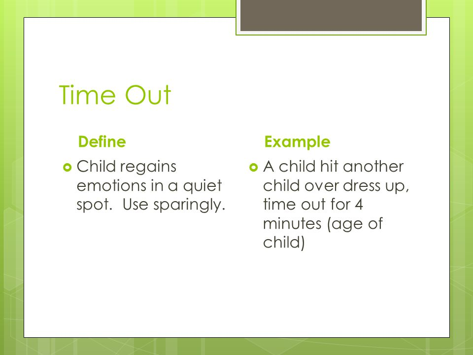Time Out Define Example