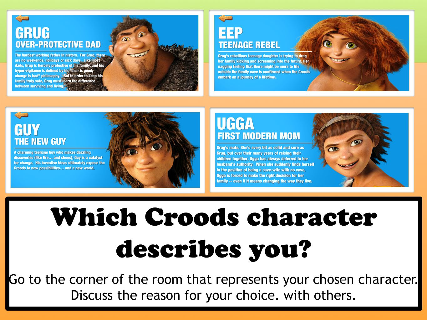 Which Croods character describes you