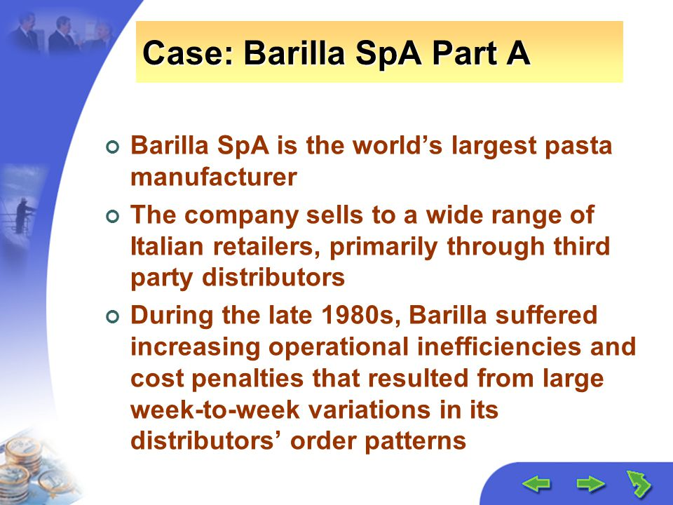 chapter the value of information ppt video online case barilla spa part a