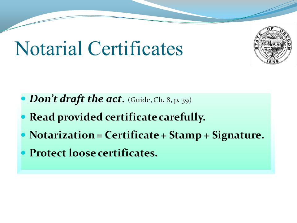 Notarial Certificate