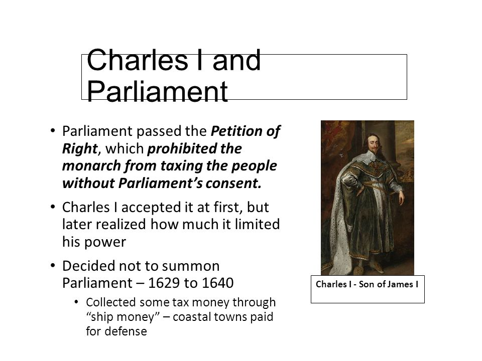 charles i and his relationship with parliament