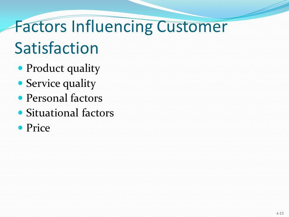Factors Influencing Customer Loyalty