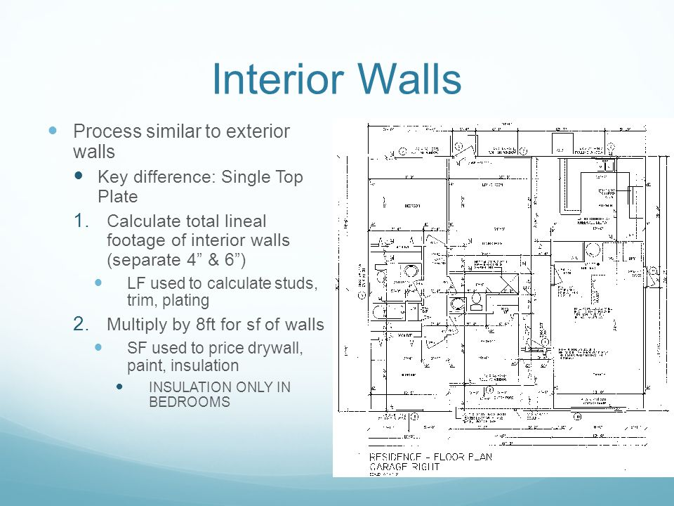 King james cost estimation ppt video online download - Interior paint calculator square feet ...