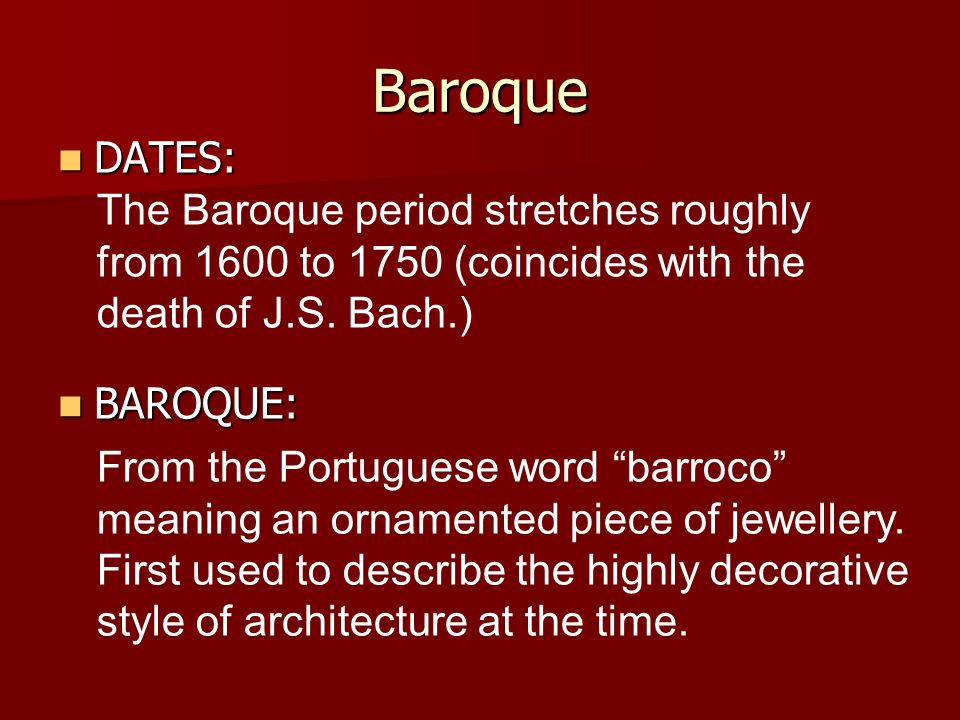 Baroque music ppt video online download for What is the baroque period