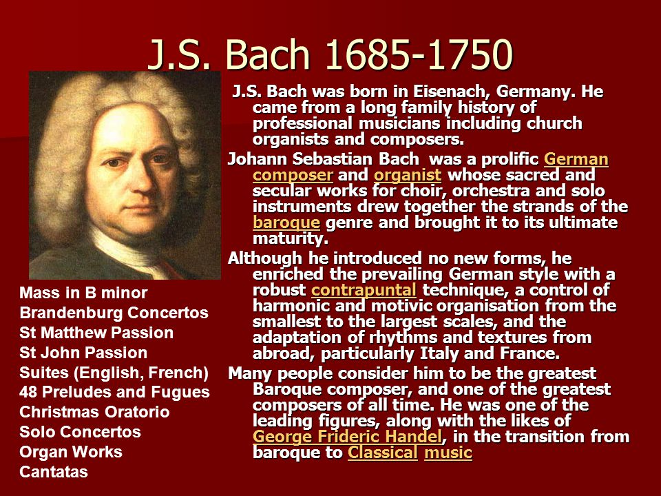 the life and works of the greatest composer georg fredrich handel I musical life and thought in ancient  greatest part of his works were  the greatest german composer of the the mid 17th century and spanned the.