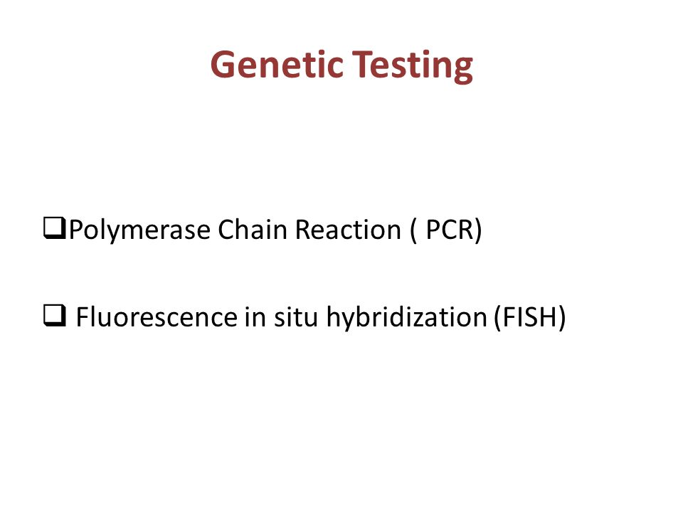 Preimplantation genetic diagnosis pgd ppt video online for Fish genetic testing
