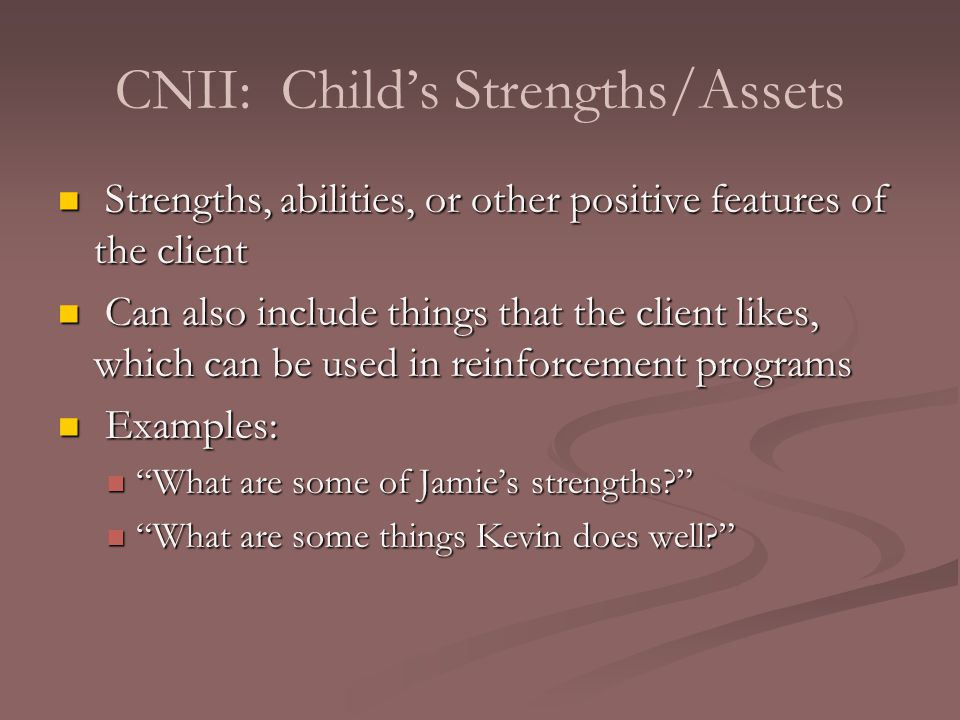 what are some examples of strengths