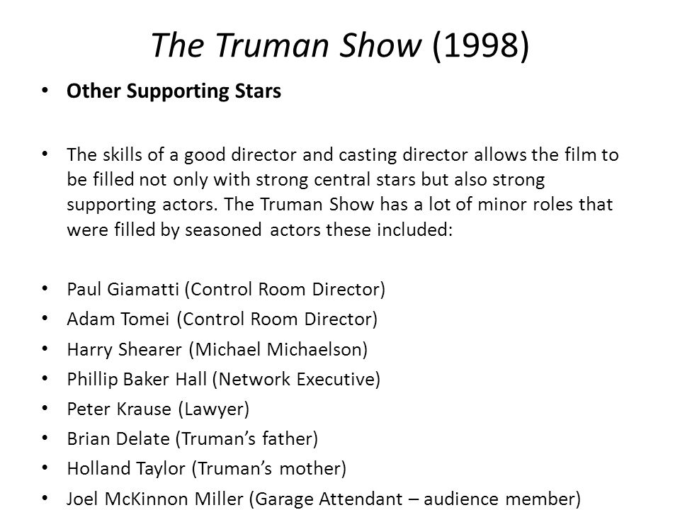 an analysis of interpretation of the truman show The truman show (1998) on imdb: plot summary, synopsis, and more.