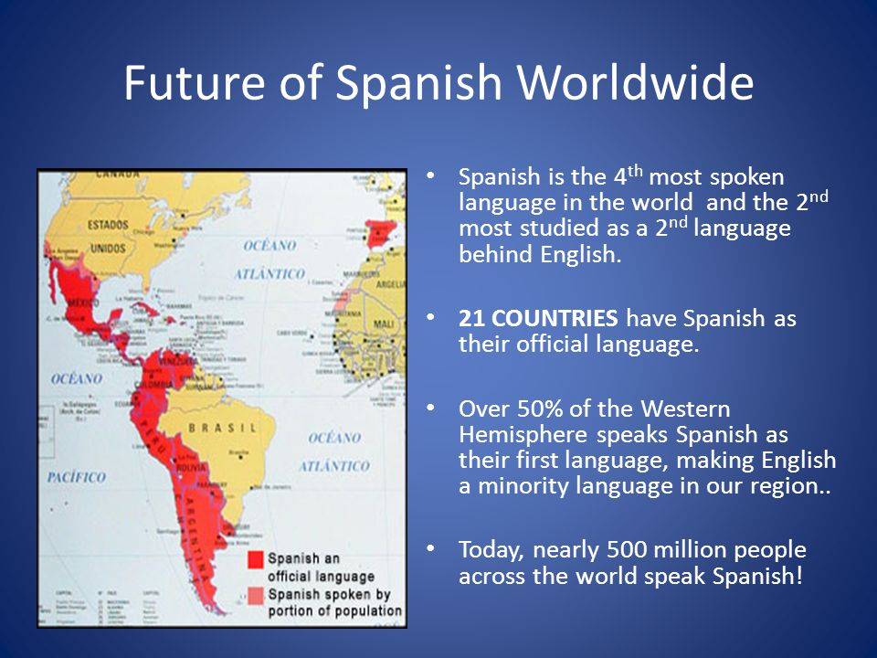 Warm Up Take OUt Your Homework Spanish Conversations On A - Most spoken first language in the world