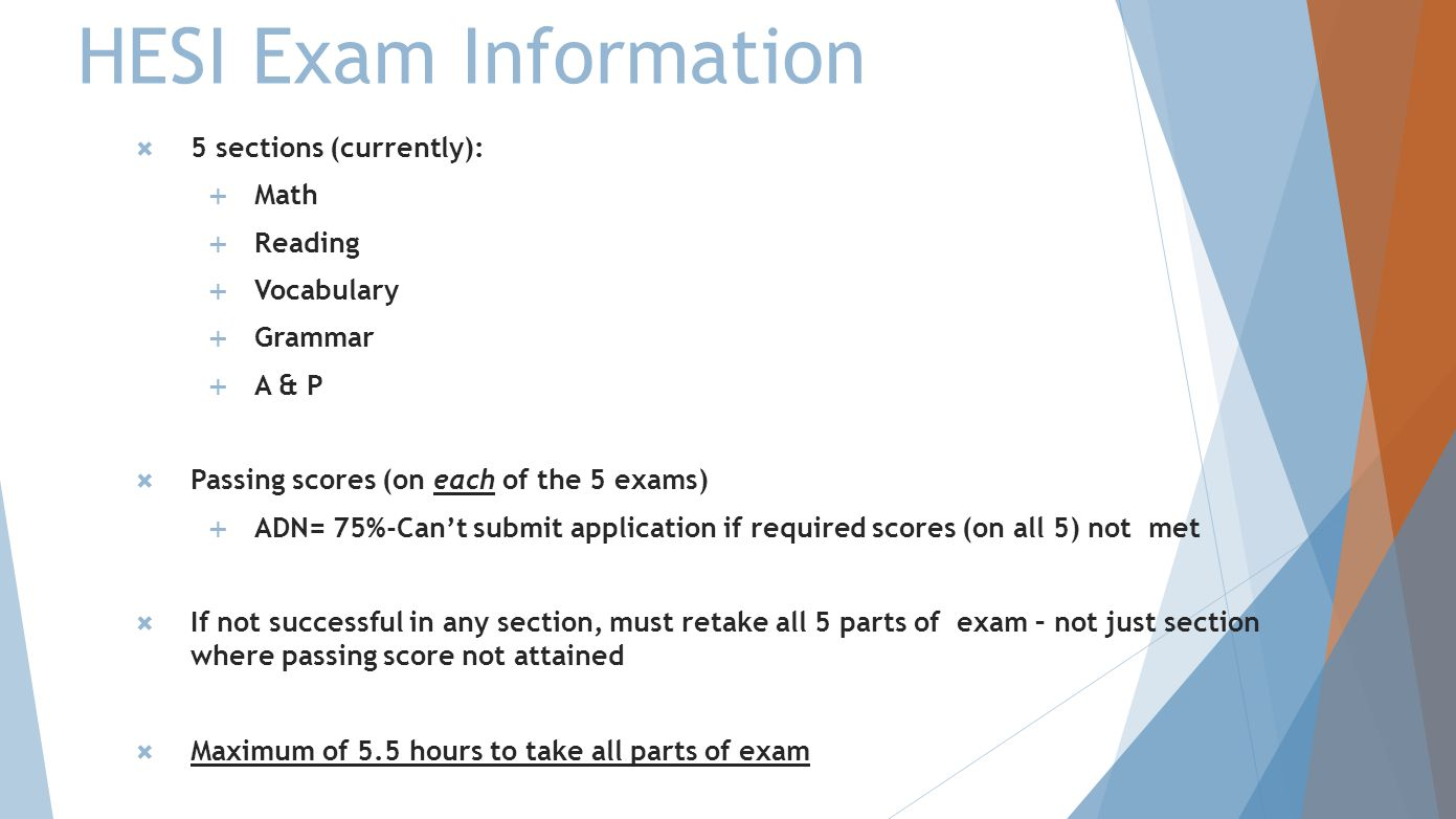 HESI Information for Sonography Students