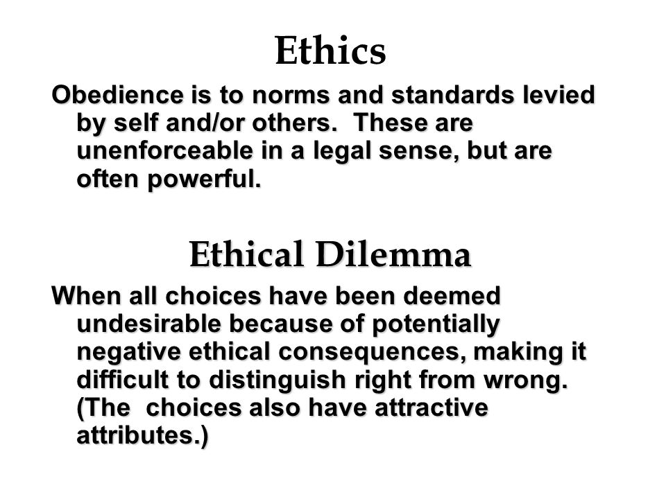 Ethics Ethical Dilemma