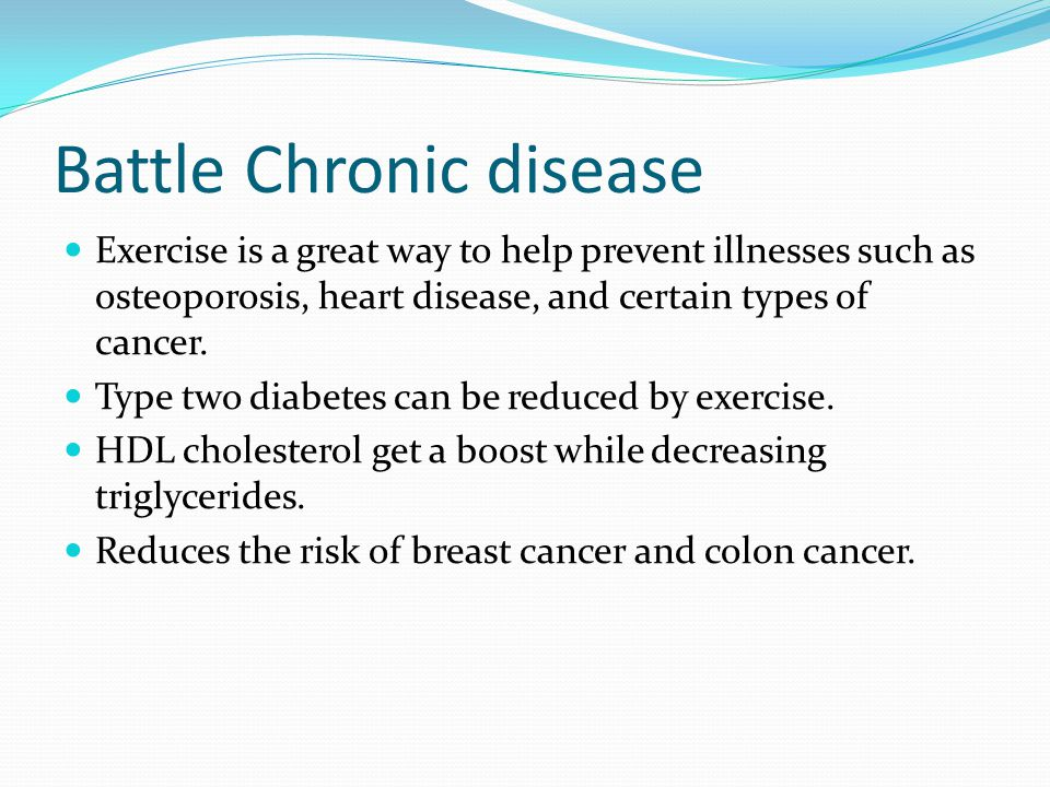 Battle Chronic disease