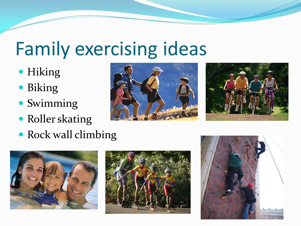 Family exercising ideas