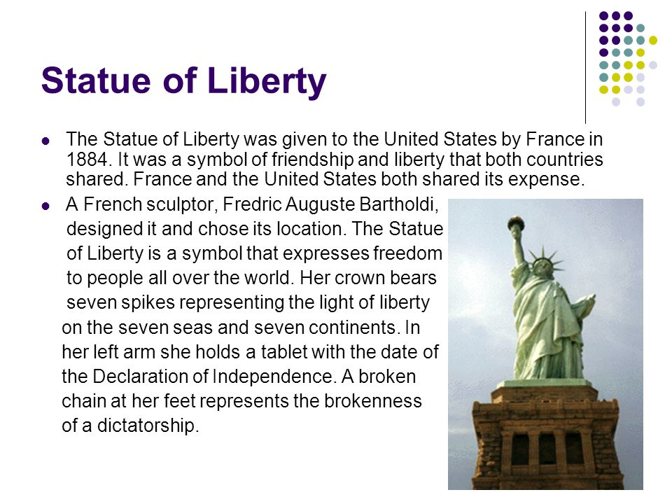 an analysis of statue of liberty designed by fredric auguste bartholdi Work cited statue of liberty the best culturalartifact to represent the united states culture today is the statue of liberty the statue of liberty is a colossal neo-classical sculpture on the liberty island which is in new york harbor.