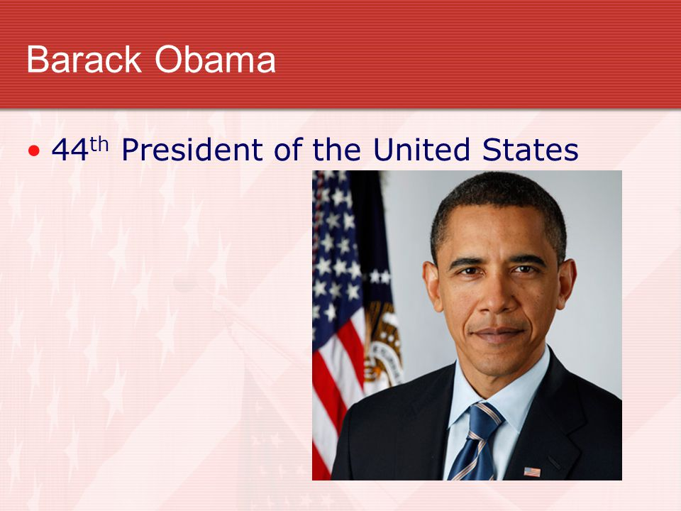 Barack Obama 44th President of the United States