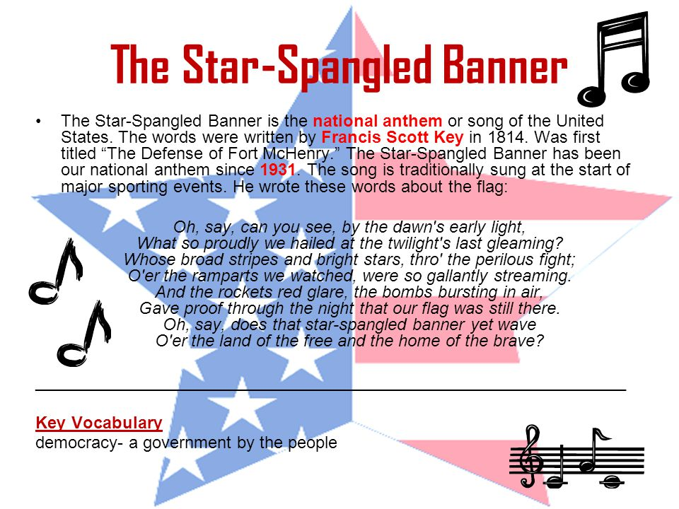 humming the star spangled banner