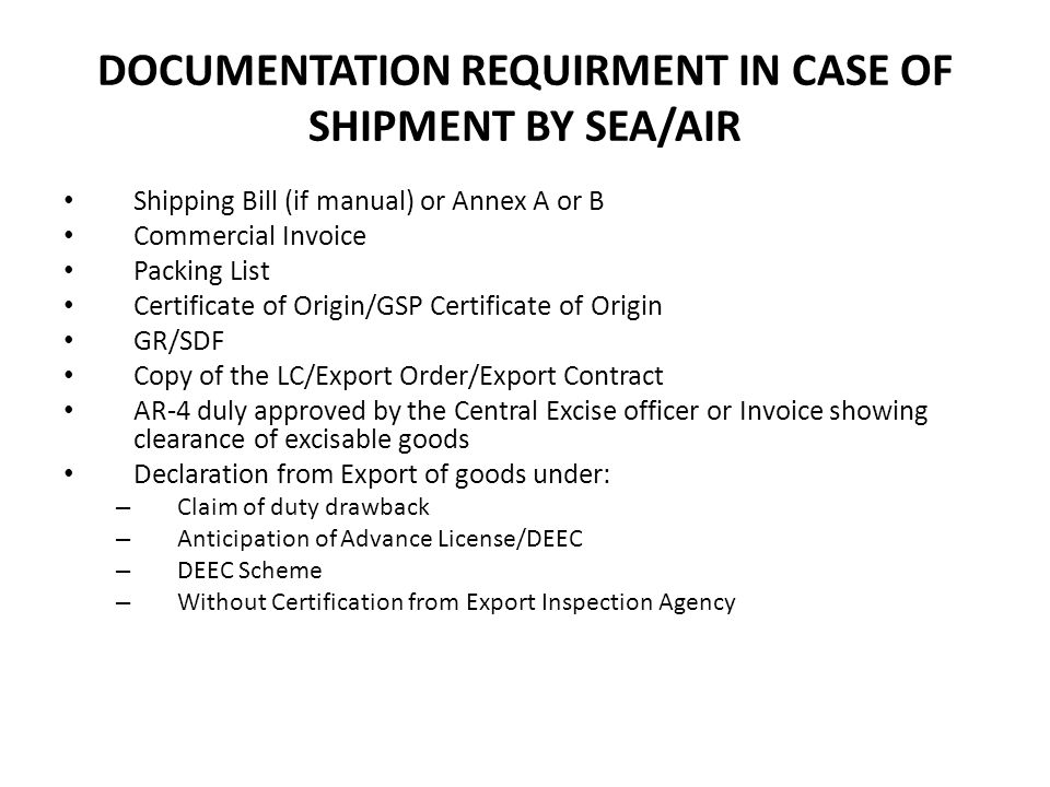 CUSTOM CLEARANCE OF EXPORT CARGO ppt video online download – Export Contract