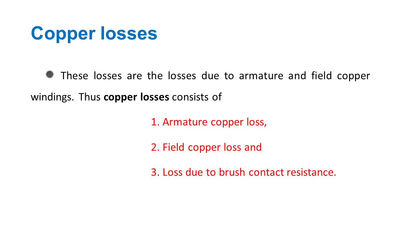 Copper losses