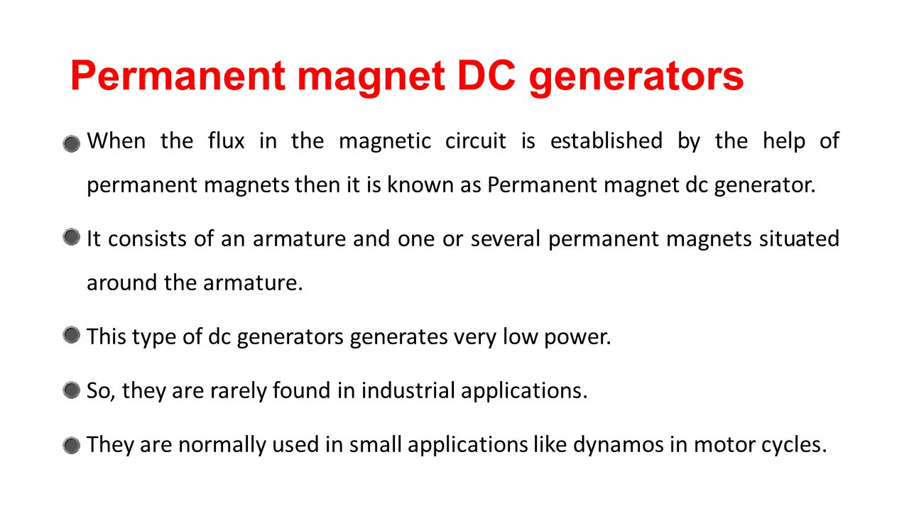 Dc generator chapter ppt video online download for What is found in a generator and motor