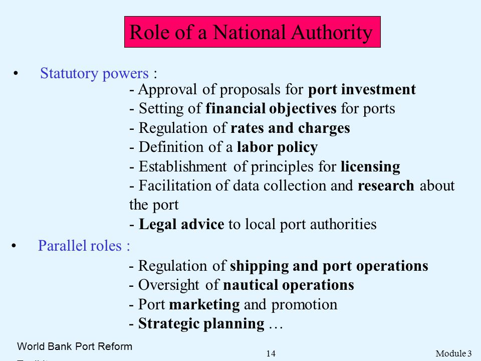 role of port authorities essay Consider the economic importance of the marine industry and the contribution to  the  marine industry benefits study - executive summary [pdf]  port  authorities (cpa) and consist of 18 port authorities known as the national ports  system.