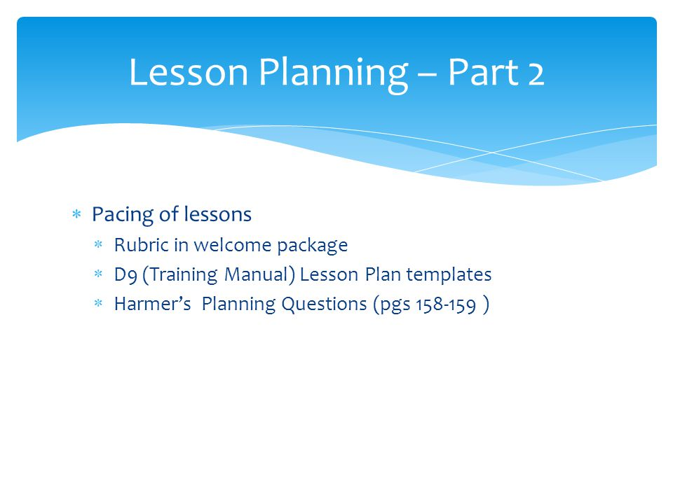 Day ESL Skills Lesson Planning Ppt Video Online Download - Training lesson plan template