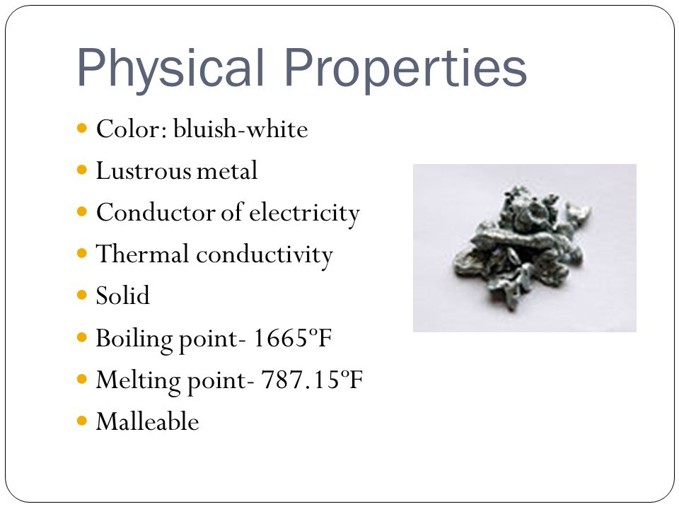 Element Zinc Chemical And Physical Properties
