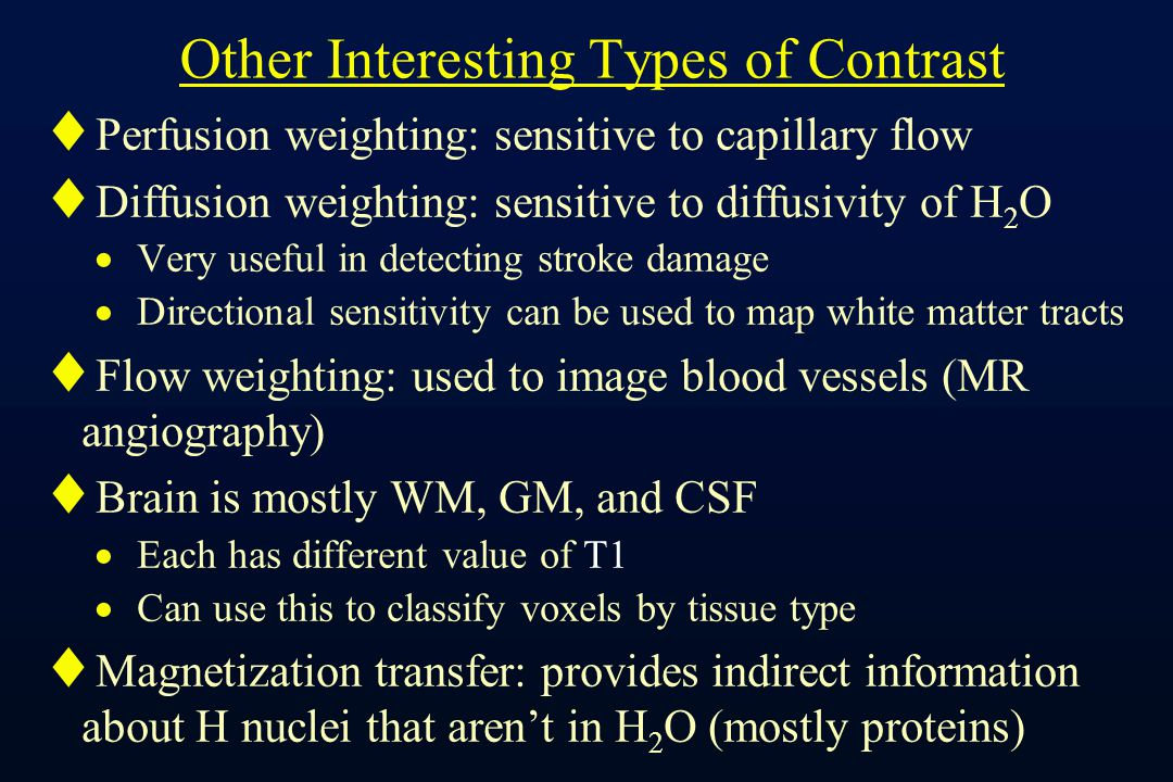 F mri physics with hardly any math ppt video online Types of contrast