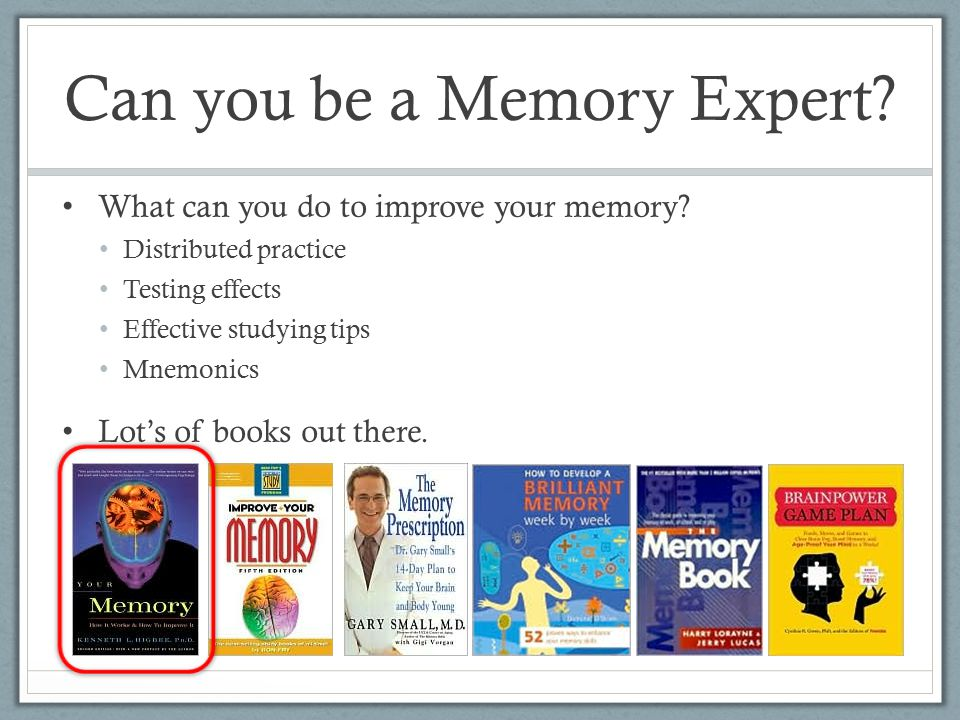 how can memory be improved by If you regularly lose your keys or forget instructions, then you may need to  improve your working memory learn how checklists and routines will get you on  track.