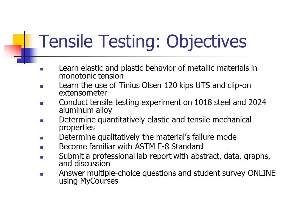 tensile testing report In this report, the methods for testing the high strain rate tensile properties of  sheet materials were reviewed and the recent improvements made for our testing .