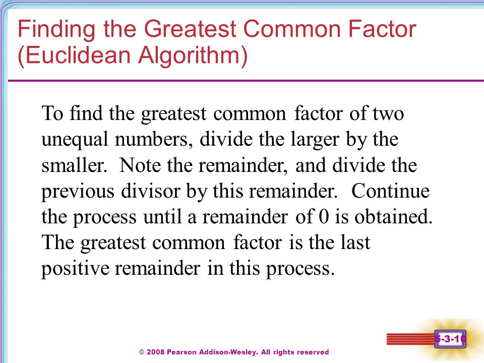 Write algorithm for finding the gcd of a number